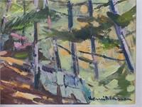 HENRI MASSON UNTITLED FOREST LANDSCAPE O/C