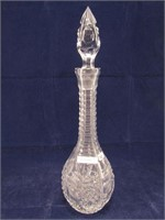 """12"""" CRYSTAL DECANTER W/4"""" STOPPER"""