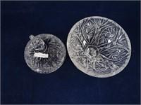 PINWHEEL CRYSTAL COVERED PEDESTAL BOWL