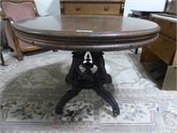 """ANTIQUE JACQUES & HAY 40"""" PEDESTAL PARLOUR TABLE"""