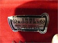53 PC ROGERS SILVERWARE IN D-SHAPE TABLE/CASE