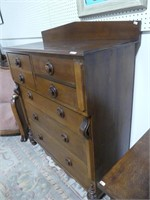 ANTIQUE 6 DRAWER BONNET CHEST