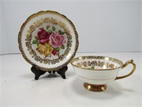 PARAGON ROSE PATTERN CUP AND SAUCERS