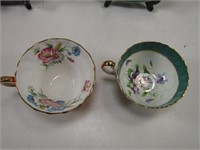 2 AYNSLEY CUPS AND SAUCERS