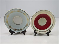 2 AYNSLEY CORSET CUPS AND SAUCERS