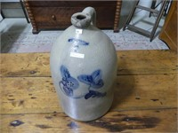 FLACK & VAN ARSDALE 5 GAL FLORAL DECORATED JUG