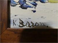 K. BARON? UNTITLED ABSTRACT LANDSCAPE  O/B