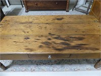 ANTIQUE PINE TOP COFFEE TABLE