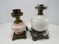 BOX: 2 ELECTRIFIED OIL LAMPS