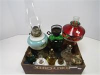 BOX: PEDESTAL & MINI OIL LAMPS