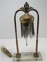 UNIQUE CAST ELECTRIFIED TABLE LAMP