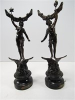 TRAY: 4 FRENCH FIGURAL STATUES