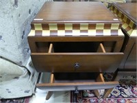 GAIL'S ACCENTS 2 DRAWER SIDE TABLE