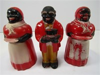 TRAY: AUNT JEMIMA & UNCLE MOSE SALT & PEPPERS