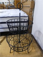"""CONTEMPORARY METAL FRUIT STAND 24"""" TALL"""
