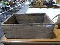 CALIFORNIA PRUNES WOODEN BOX & CONTENTS