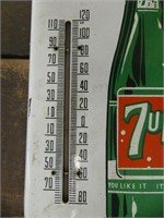 FRESH UP WITH 7-UP FRENCH PORCELAIN THERMOMETER