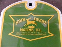 REPRODUCTION TIN JOHN DEERE THERMOMETER