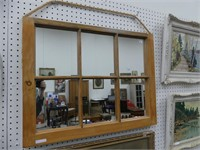6 PANE WINDOW FRAME MIRROR