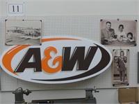 4 A & W WALL DECOR