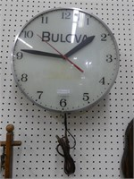 "16.5"" VINTAGE BULOVA ELECTRIC WALL CLOCK"