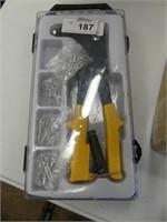 BOX: CONSTRUCTION STAPLER, POP RIVET KIT,  ETC.