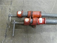 PAIR PIPE CLAMPS