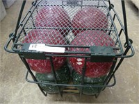 BOCCE BALL SET IN WIRE CASE