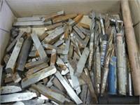 BOX: QTY MOLDING KNIVES & DRILL BITS