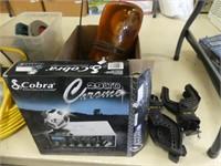 BOX: COBRA CB RADIO, KOLPIN CLAMPS, LIGHT ETC.