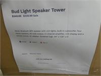 BUD LIGHT SPEAKER TOWER-NIB