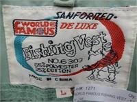 WORLD FAMOUS FISHING VEST - SZ LG
