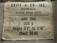 1965 SHIFF & CO. INC. FLYING MEN'S COVERALLS