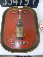 WATSON'S WHISKEY TRAY, LABATT'S PORCELAIN ASHTRAY