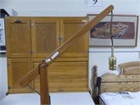 UNMARKED TEAK BRIDGE STYLE FLOOR LAMP