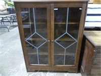 2 DOOR GLASS FRONT BOOKCASE