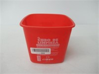Winco PPL-3R Cleaning Bucket, 3-Quart, Red
