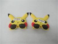 (2) Sunstaches Pokemon Pikachu Sunglasses
