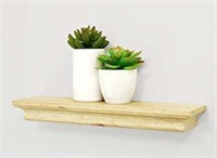 "(3) Boston 12"" Wall Shelf 4"" Deep - Pale Natural"