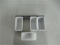 Winco 4 Comp Condiment Dispenser, Medium,