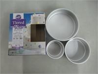 Aluminum Round Cake Pan Set; 3-Piece