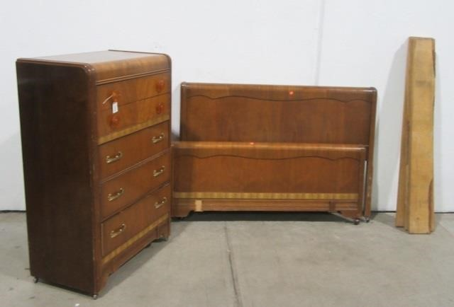 Antique Waterfall Bedroom Set United