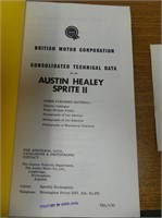 AUSTIN HEALEY SPRITE II BOOK & RACING RECORD