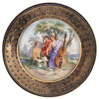 6 Transfer Decorated & Hand Painted Plates