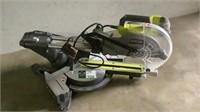 "Ryobi 10"" Sliding Miter Saw with Laser-"