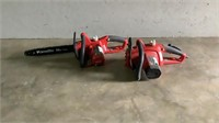 "(qty - 2) Homelite 14"" & 16"" Electric Chainsaws-"