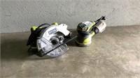 (qty - 2) Ryobi Circular Saw and Sander-