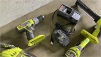 (qty - 7) Assortment of Ryobi Cordless Hand Tools-