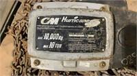 CM Hurricane 10-Ton Chain Hoist-