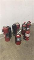 (qty - 6) 10 & 20 lb Fire Extinguishers-